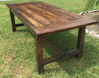 7ft Simple Farmhouse Table