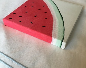 6x6 Watermelon Canvas Painting