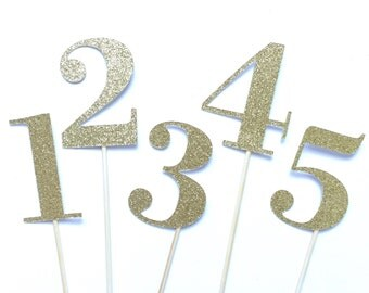 Glitter Gold Wedding Table Numbers, Number Toppers, Table Numbers, Table Number Centerpiece, Wedding, Parties