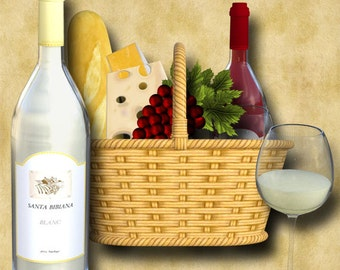Wine and Chesse 15 Graphic Download 300dpi