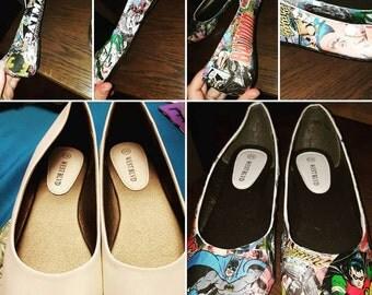 Custom Batman & Robin shoes