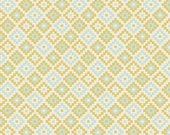 Sale, Quilting Fabric, Riley Blake, Geometric Green of Woodland Springs by Dani