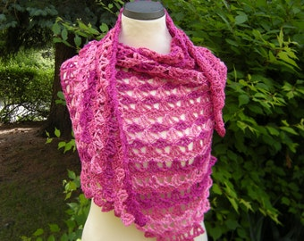 Shawl triangle crochet scarf triangle towel Tahiti