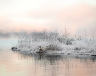 Misty Morning, Landscape Photography, Landscape, Minimalist, Wall Art, Modern Art, Abstract Art,