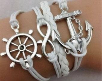 sailor anchor cuff bracelet