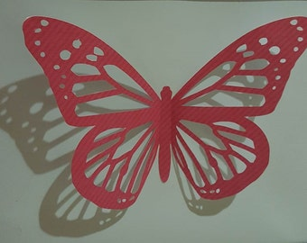 Pop-Up butterfly with wall frame