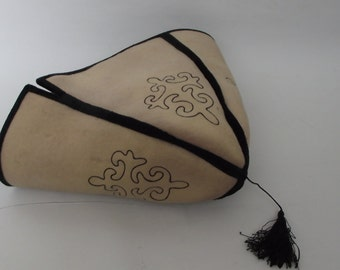 Vintage Traditional Hat/ Embroidered Hat