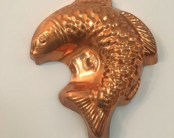 Vintage Mold Copper Fish Mold