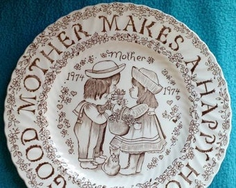 Tribute to Mother (Norma Sherman designed commemorative plate) 1974