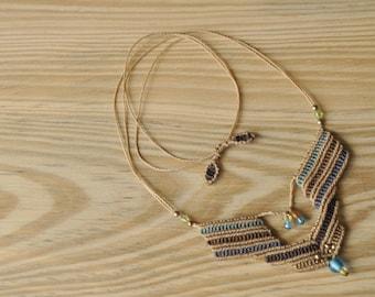 Handmade macrame necklace