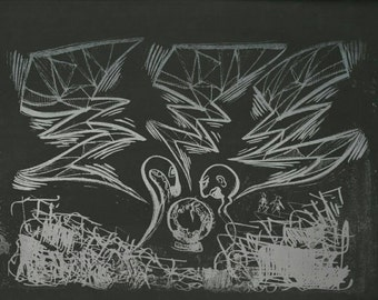 Lithograph - The Knowers. Landscape