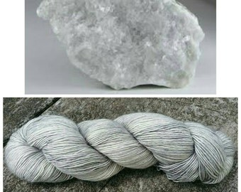 Hand Dyed Yarn, Ultra Soft Single Ply Merino Fingering Weight Tonal Yarn Perfect for Shawls and Other Special Accessories - Calcite