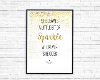 Kate Spade Inspired Quote Printable Digital File Download 8.5x11