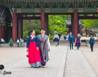 Korean Couple In Hanbok, Korean Culture, Large Fine Art Print, Korea Wall Art, Lustre, MyPixelDiaries, Home Decoration Ideas, 24x36, 30x45