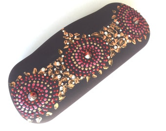 Decorated eye glasses case