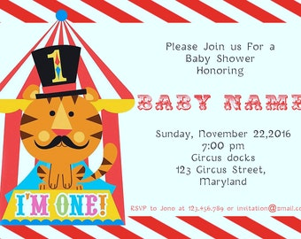 Circus Baby Shower Invitations -BSI_CCS_01