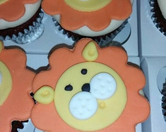 Lion cupcake topper, if you can think of the animal we can do it