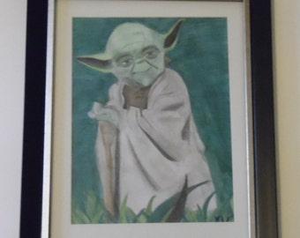 Yoda Watercolor Painting/Drawing