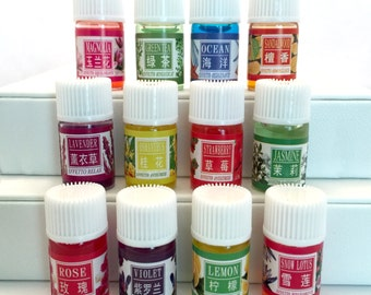 Aromatherapy Essential Oils Set, 12 - 3ml Bottles