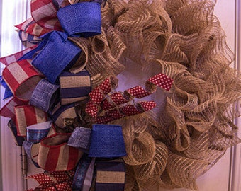 Primitive Patriotic Wreath