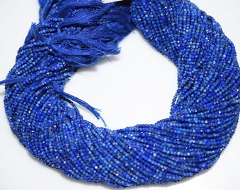 Fine Diamond Cutting Lapis Rondelle Beads 13 Inch Strand ,Lapis Faceted Rondelle Beads , 2 mm - MC371