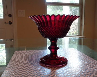 Vintage Red Candy Dish