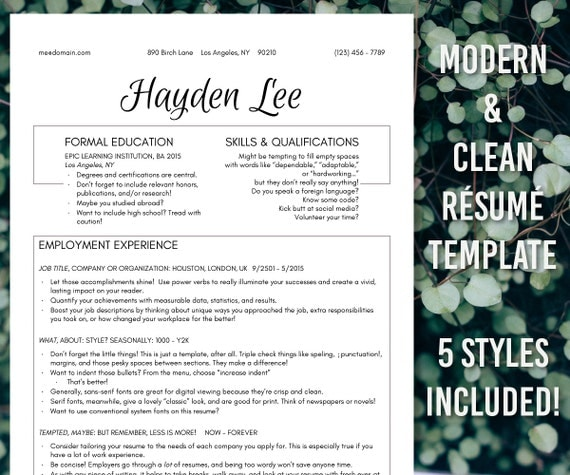 new markdown stylish script resume templates by resumescence. Black Bedroom Furniture Sets. Home Design Ideas