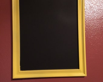 Yellow 8x10 chalkboard picture frame
