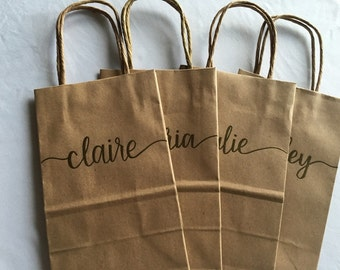 Personalized Gift Bag | Gift Bag | Bridesmaid Gift | Birthday Gift | Custom Bag | Embossed Bag | Party Bag | Favor Bag | Hand Lettered