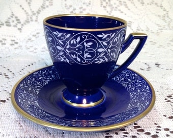 Lovely Cobalt Demi Tasse, Made in Germany by Jaeger and Co.