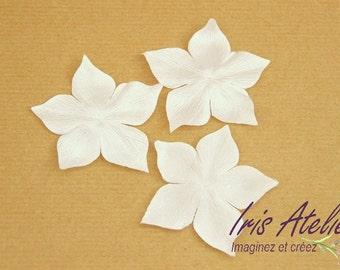 Handmade ivory satin silk flowers for scrap, DIY, wedding, bridal jewelry, bridal crown, bridal accessories