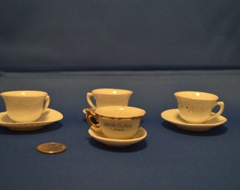 Vintage Miniature Tea Cups & Saucers