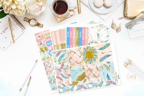 Feathers   Erin Condren Vertical Planner Kit, Stickers For Planners, Weekly Planner Kit, Weekly Planner Spread, Planner Sticker Kit