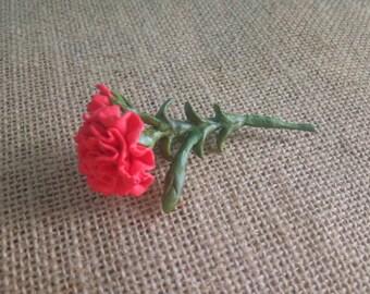 Carnation brooch - flower brooch - Handmade - Original gift - Women's Accessories - Accessories - Red brooch - Exclusive