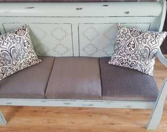 Persian Blue Headboard Bench