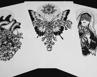 Set of 3 prints