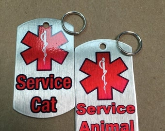 Service Animal ID Tag Set For Cats