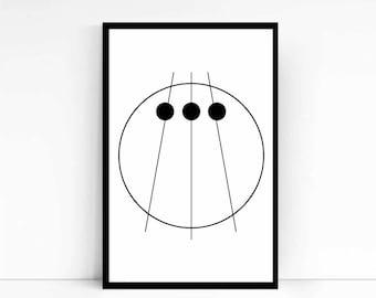 Inspiration. Symbol. Decorative Print.