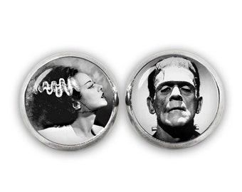 Bride of Frankenstein Stud Earrings Frankenstein Earrings Horror Jewelry Fandom Jewelry Cosplay Fangirl Fanboy