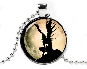 Death Note Pendant Necklace with a ball chain Death Note Necklace Geeky Jewelry Fangirl Fanboy