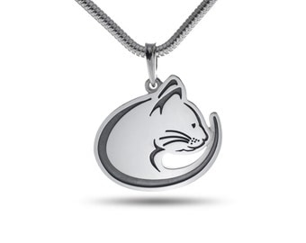Cats Jewelry, Cat Jewelry, Cat pendant - sterling silver / Cat necklace / Kitten / Pets