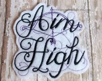 Aim High Embroidered Felt Patch, Archery