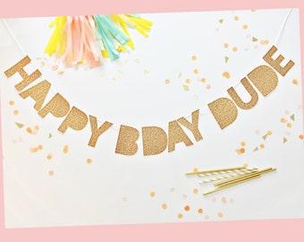 Happy Birthday Banner | Happy Birthday | Bday Glitter Party Banner