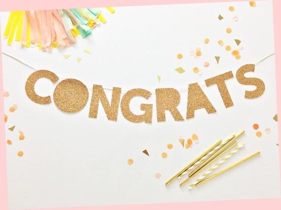 congrats party banner congrats banner congratulations gold