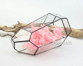 ES Glass Terrarium/mini Greenhouse/ Tabletop Succulent Planter/ Candle Holder