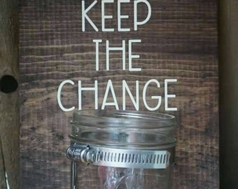 Keep the change laundry room wall hanging