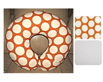 Orange Dots/Circles Boppy Cover