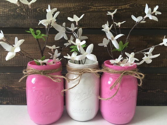 baby shower centerpieces baby girl mason jar decor baby shower decor