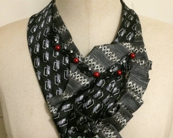 One of a kind neck fashion made from men ties