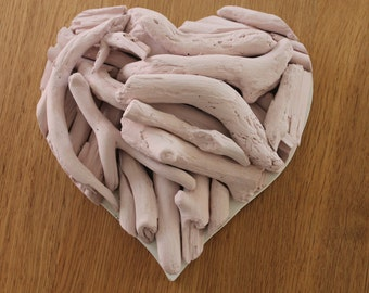 Colourwash Driftwood Heart